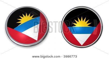 Banner Button Antigua And Barbuda