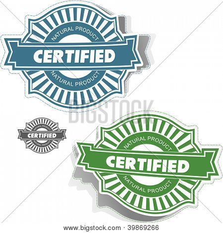 Certified stamp. Vector illustration.