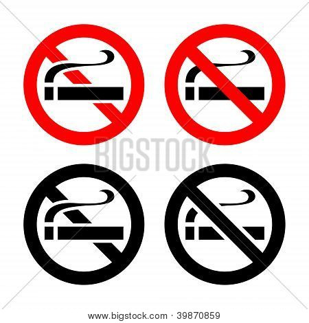 No smoking - symbols