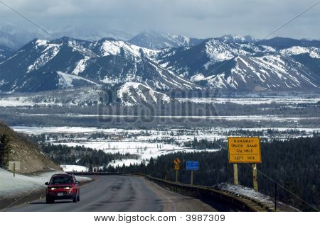 Steep Grade Into Jackson Hole