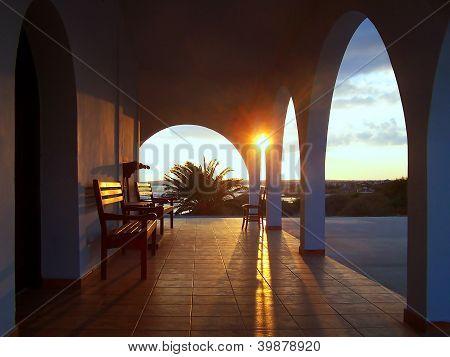 Cyprus Church Sunset
