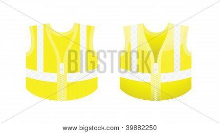 Protective Fluorescent Yellow Vest