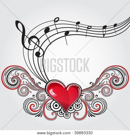 Coração de música grunge