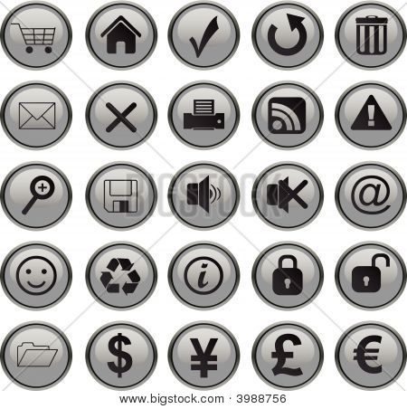 Web Icons Set Grey