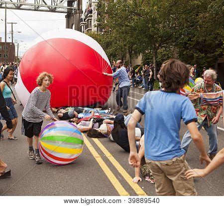 Publikumsbeteiligung Fremont Parade
