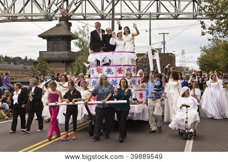 Gay Lesbian Marriage Parade Float
