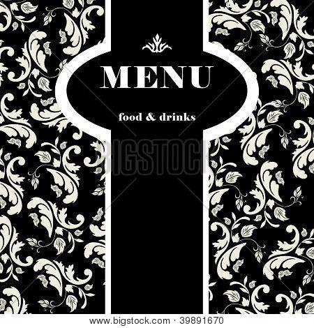 Elegant restaurant menu design