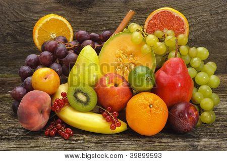 mixed tropical fruits