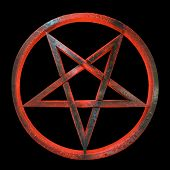 stock photo of pentacle  - A red and amber - JPG