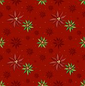 Bakcground Illustration of Red and Green Poinsettia