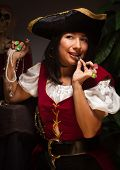 pic of wench  - Dramatic Female Pirate in a Dimly Lit Moody Scene - JPG