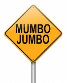 stock photo of jargon  - Illustration depicting a roadsign with a mumbo jumbo concept - JPG