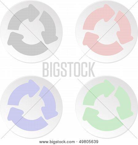 Icon set - recycle