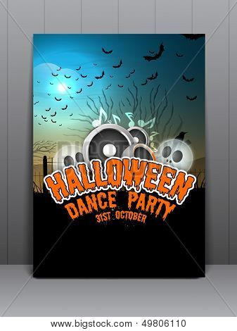 Flyer, brochure or cover design for Halloween Party Night.