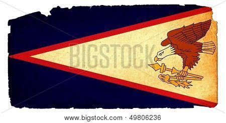 Grungy Flag - American Samoa
