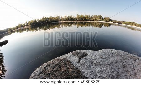 Body Of Water In A Fish-eye View