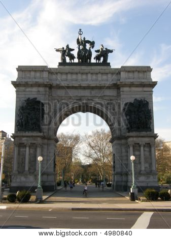 Grand Army Plaza In Brooklyn, New York City