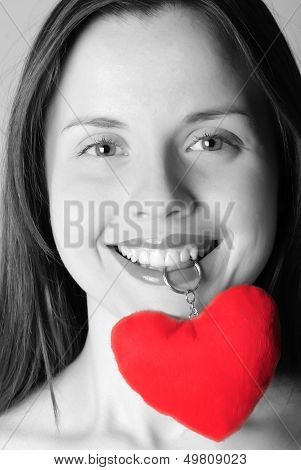 Girl's Face With Heart