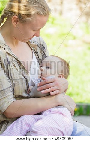 Mother Breastfeeds