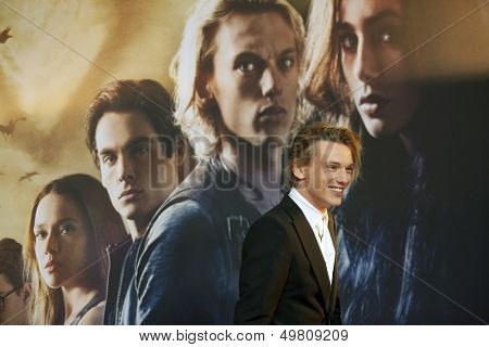 BERLIN - AUG 20:  Jamie Campbell Bower at the 'The Mortal Instruments: City of Bones' premiere at Sony Center on August 20, 2013 in Berlin, Germany
