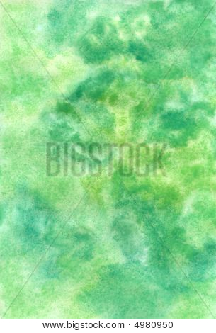 Handmade Watercolor Greenish Texture