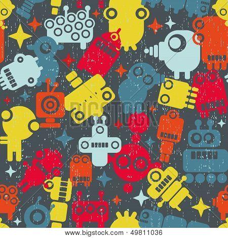 Robots seamless pattern.