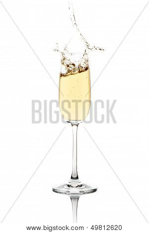 Splashing Champagne