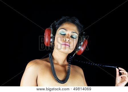 headphone woman