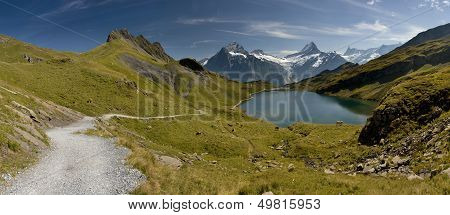 Bachalpsee - Lake With Mountain In The Swiss Alps. Switzerland - Grindelwald - Interlaken