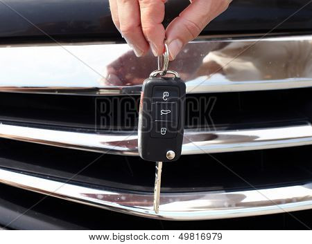 Car key. Auto dealership concept.