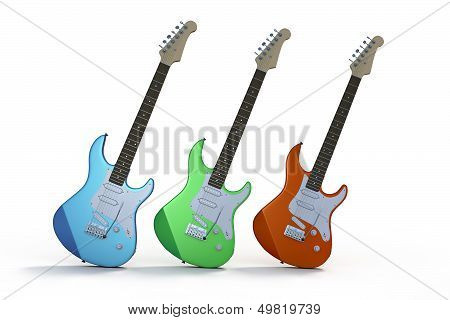 Three Electric Guitars