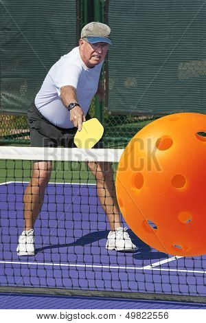 Pickleball Action - Big Backhand