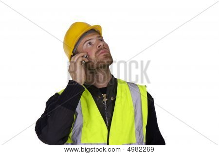Builder Working At Site