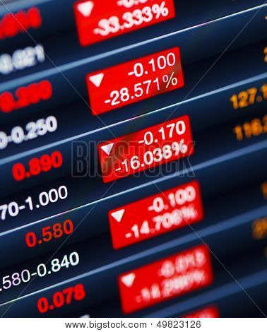 Decreasing of stock market