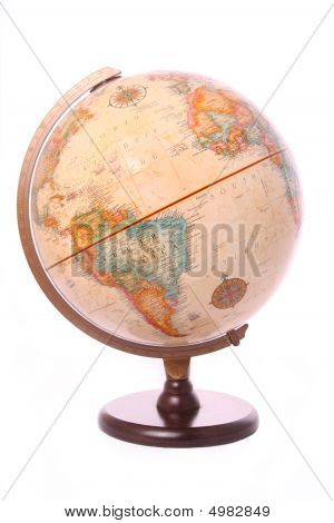 Globe On White Background