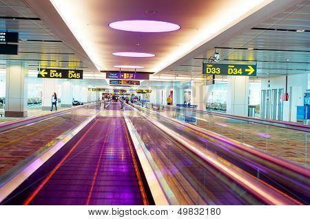 Travellators At Airport