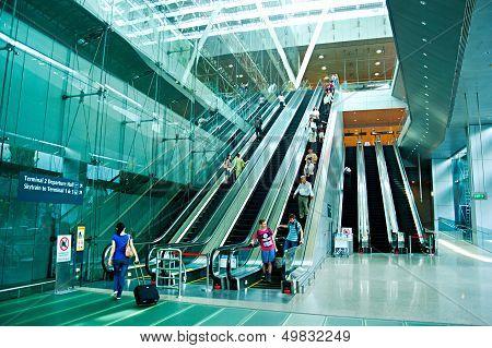 Escalators At Airport
