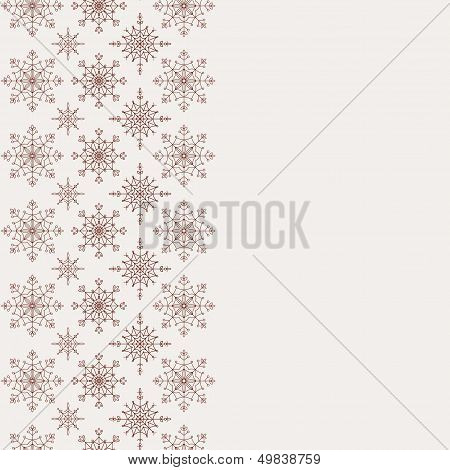 Winter background with seamless snowflakes pattern.
