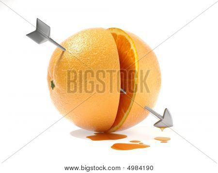 Better Half Or The Other Half Of The Orange Love Concept