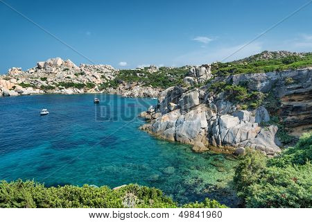 Sardinia Beach, Wonderful Sea In Capo Testa. Italy