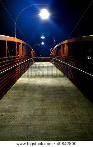 Walking Bridge at Night