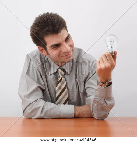 Businessman Generating Ideas