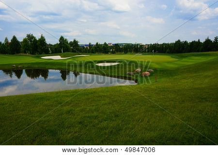 Landscape of golf field