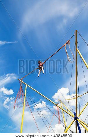 Girl On Bungee Cord Device