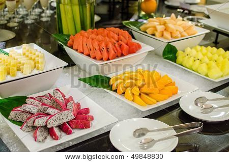 Set Of Fresh Fruits For Party