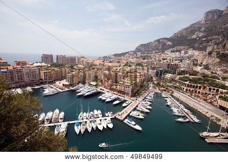 View of harbor of Monaco