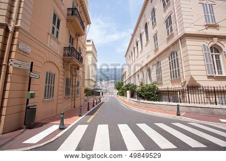 A Street Of Monte Carlo in Monaco