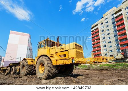 Wheel Machinery On Construction Site