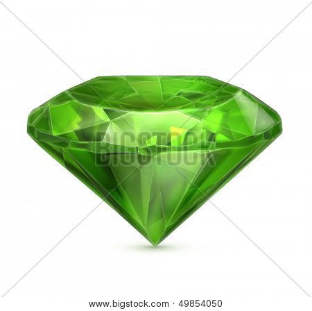 Emerald green vector icon