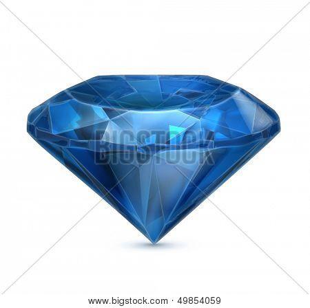 Sapphire blue vector icon